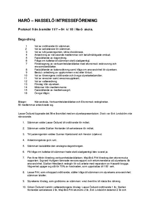 Protokoll 2004