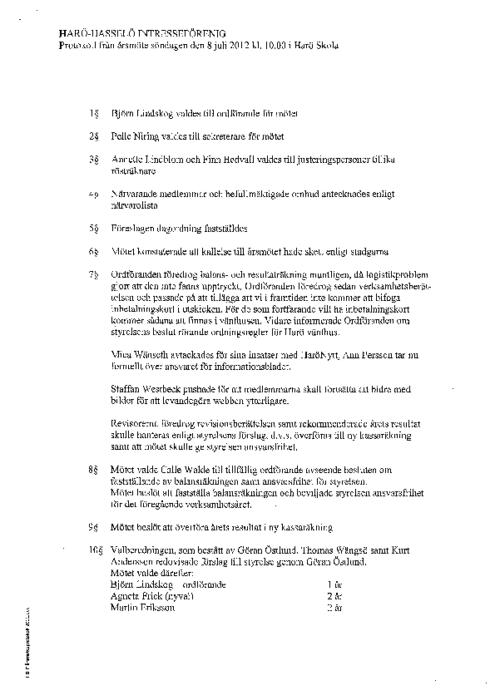 Protokoll 2012