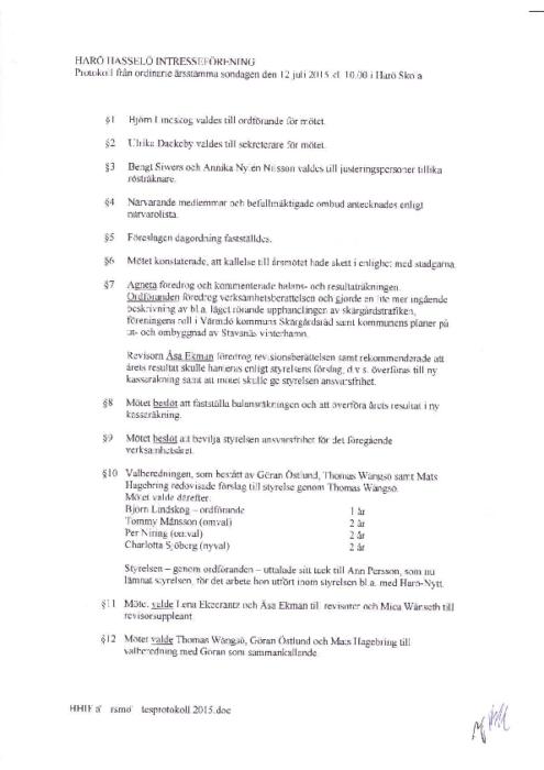 Protokoll 2015