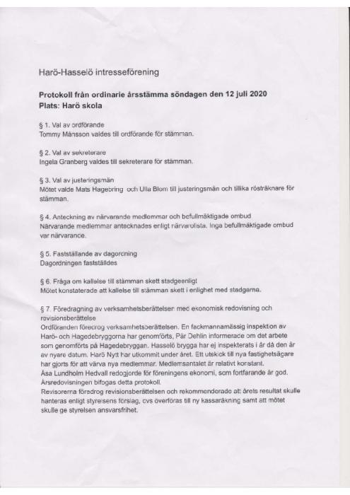 Protokoll 2020