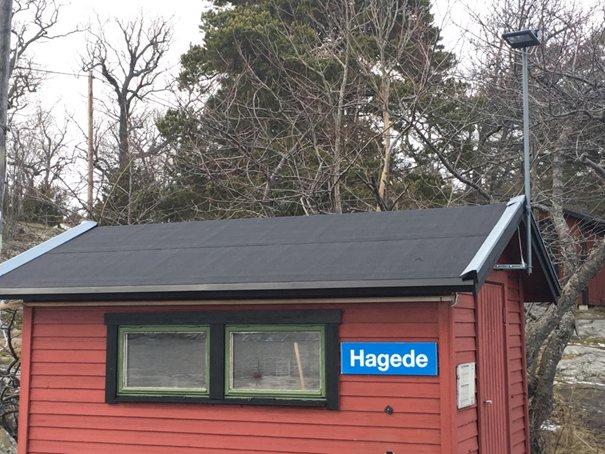 Ny takbeläggning på Hagede vänthus