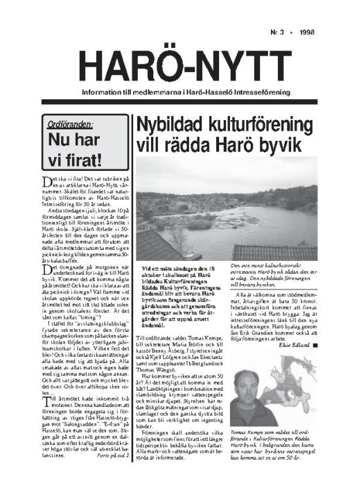 Haro-Nytt 03-98
