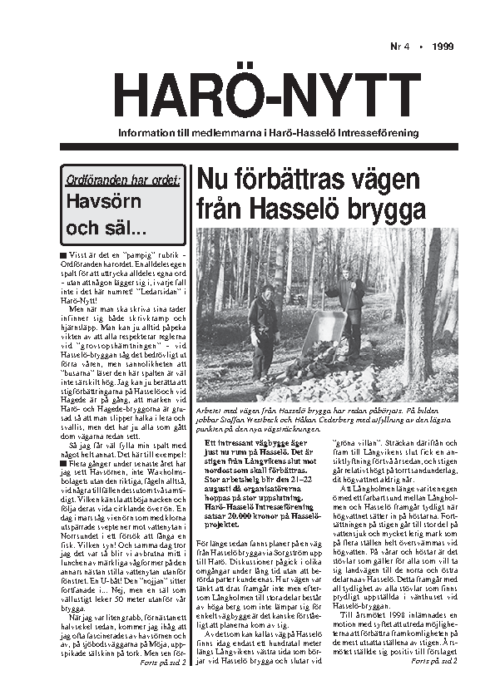 Haro-Nytt 04-99