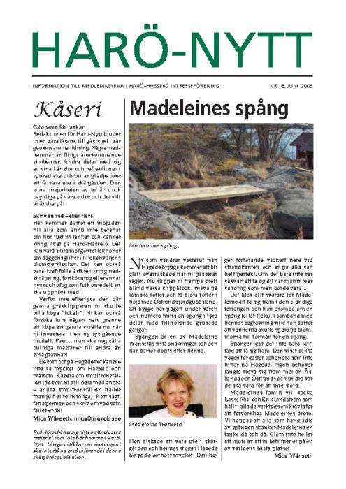 Harö-Nytt Nr. 16, juni 2005
