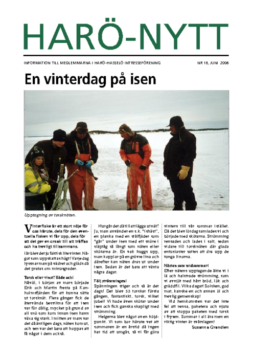 Harö-Nytt Nr. 18, juni 2006