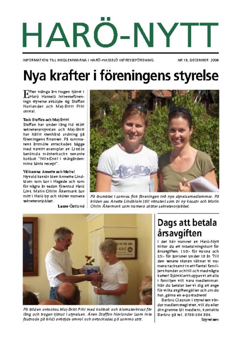 Harö-Nytt Nr. 19, december 2006