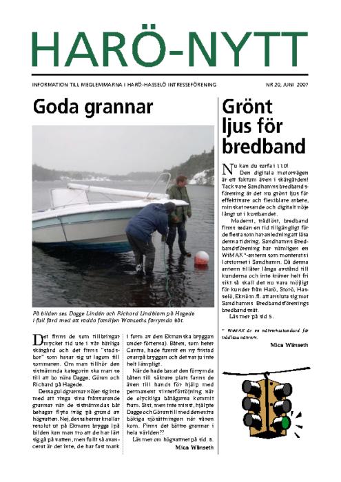 Harö-Nytt Nr. 20, juni 2007