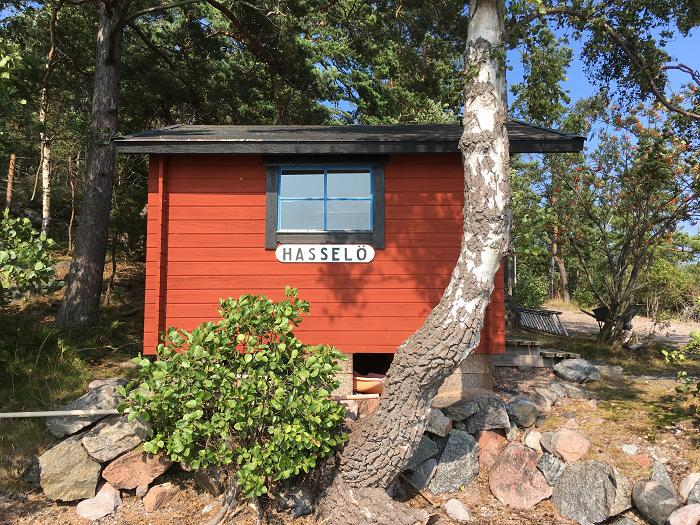 Hasselö brygga rustad 2019