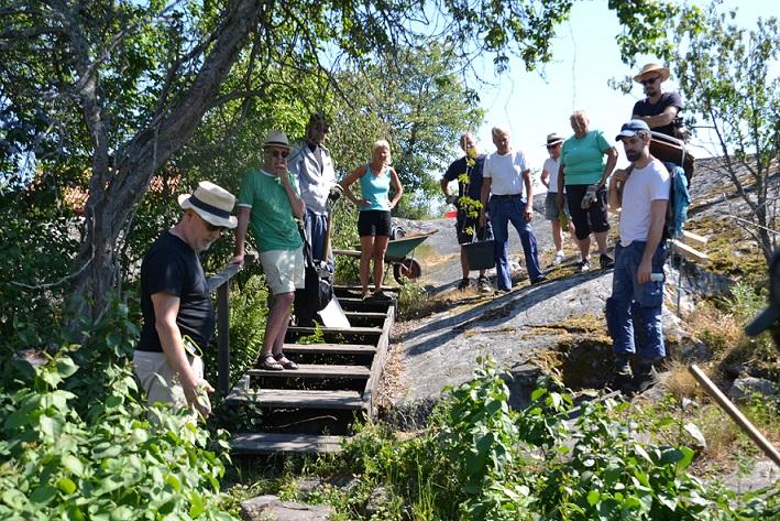 Arbetshelg för att förbättra stigen på Harö